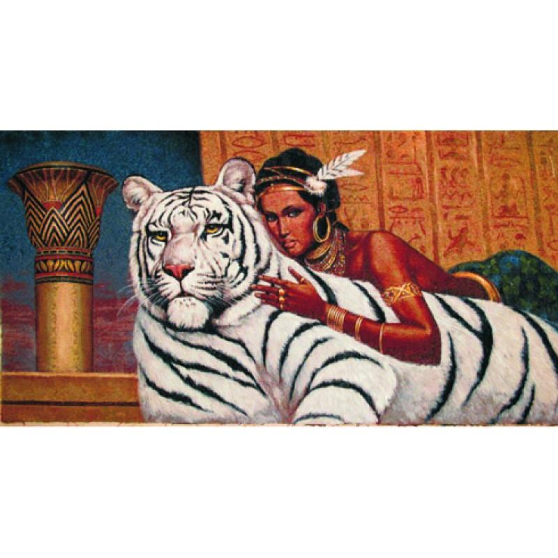 Гобелен мулатка с тиграми