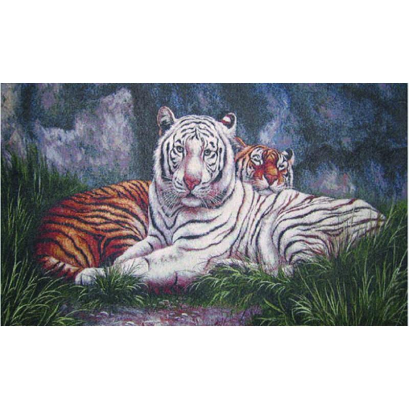Гобелен тигр альбинос