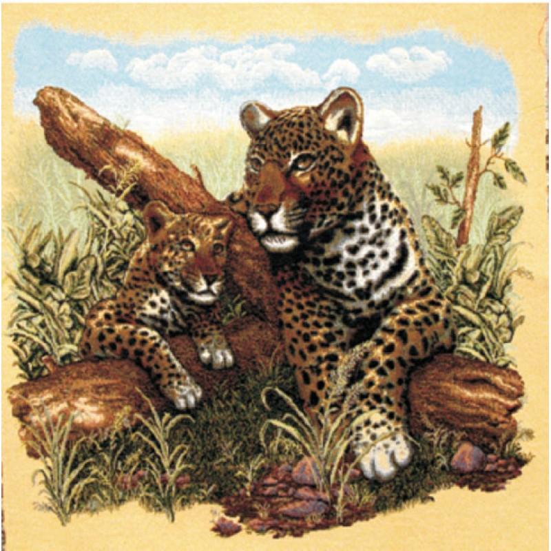 Гобелен леопарды