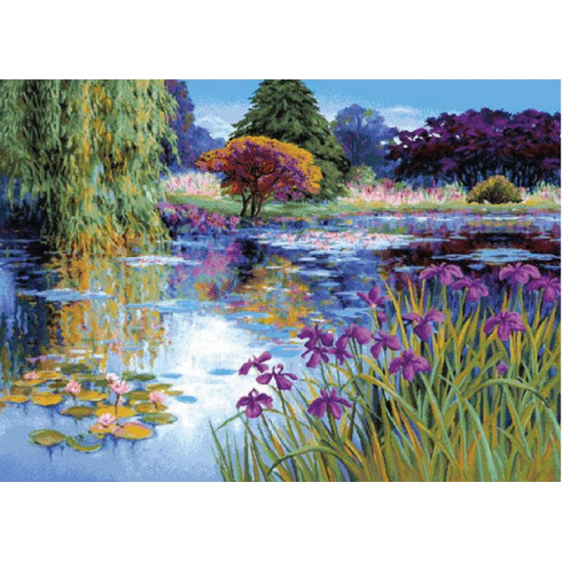 Гобелен фиолетовый пруд