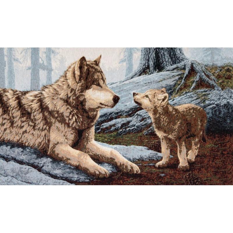 Гобелен волки оригинал