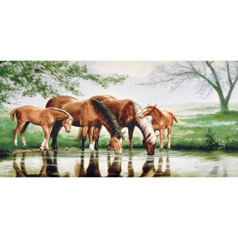 Гобелен кони