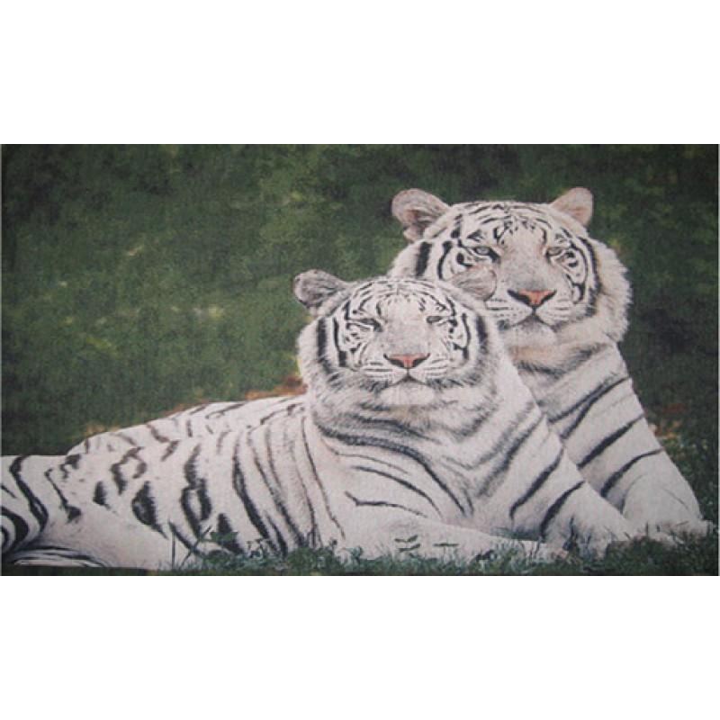 Гобелен белые тигры